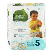 Seventh Generation Baby Diapers Stage 5 (27+ lbs.)