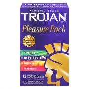 Trojan Pleasure Pack Lubricated Condoms