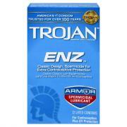 Trojan Enz Spermicidal Condom
