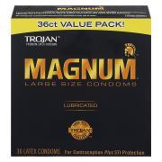 Trojan Magnum Large Size Lubricated Condoms