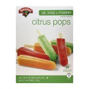 Hannaford Lime, Orange & Strawberry Citrus Pops
