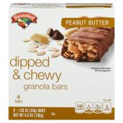 Hannaford Chocolate Dipped Chewy Peanut Butter Granola Bars