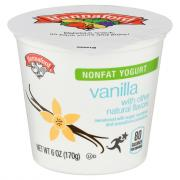 Hannaford Nonfat Yogurt Vanilla