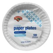 "Hannaford 6"" Coated Paper Plates"