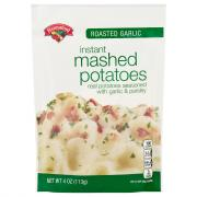 Hannaford Roasted Garlic Instant Mashed Potatoes