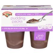 Hannaford Chocolate Vanilla Pudding
