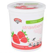 Hannaford Nonfat Strawberry Yogurt