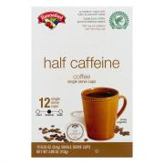 Hannaford Half Caffeine Coffee Single Serving Cup