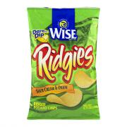 Wise Sour Cream & Onion Ridgies Potato Chips