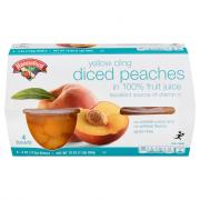 Hannaford Yellow Cling Diced Peaches in 100% Fruit Juice