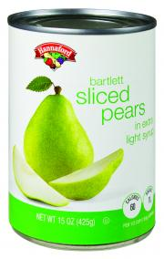Hannaford Sliced Pears in Extra Lite Syrup