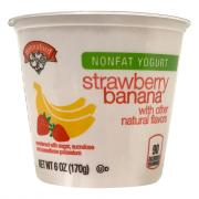 Hannaford Nonfat Yogurt Strawberry Banana
