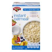 Hannaford Fruit & Cream Instant Oatmeal Variety Pack