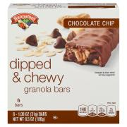 Hannaford Chocolate Dipped Chocolate Chip Chewy Granola Bars