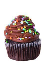 Jumbo Chocolate Cupcake With Chocolate Traditional Icing