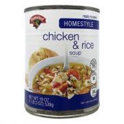 Hannaford Homestyle Chicken w/Rice Soup