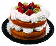 """8"""" Fresh Fruit Topped Naked Cake"""