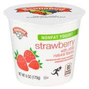 Hannaford Nonfat Yogurt Strawberry