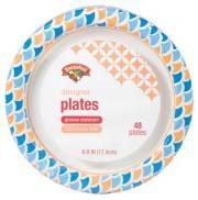 "Hannaford 6.8"" Designer Paper Plates"