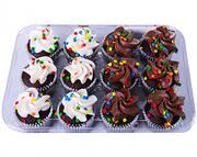 Hannaford Mini Chocolate Cupcakes with Confetti