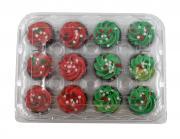 Christmas Mini Chocolate Cupcakes