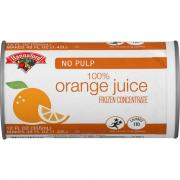 Hannaford Frozen Orange Juice No Pulp
