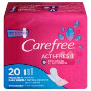Carefree Body Shape Regular To Go Unscented Pantiliners