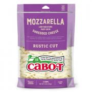 Cabot Mozzarella Shredded Cheese Rustic Cut