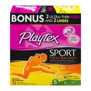 Playtex Sport Fresh Balance Regular Scented Tampons