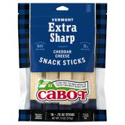 Cabot Vermont Extra Sharp Cheddar Cheese Snack Sticks