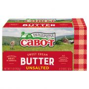 Cabot Unsalted Butter Quarters