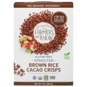 One Degree Organic Sprouted Brown Rice Cacao Crisps Cereal