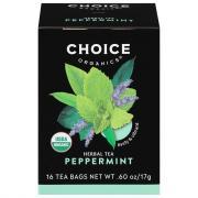 Choice Organic Peppermint Herbal Tea Bags