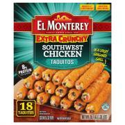 El Monterey Southwest Chicken Extra Crunchy Taquitos