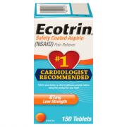 Ecotrin Low Strength 81mg Aspirin Tablets