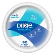 Dixie 8.5 Inch White Plates