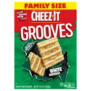 Cheez-It Grooves Crispy Cracker Chips White Cheddar
