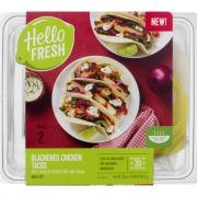 Hello Fresh Meal Kit Blackened Chicken Tacos