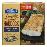Gorton's Simply Bake Haddock Garlic Herb Butter