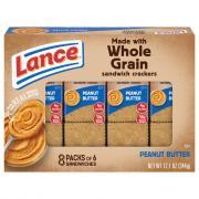 Lance Whole Grain Peanut Butter Cookies