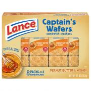 Lance Peanut Butter with Honey on Captain's Wafers