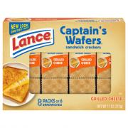 Lance Grilled Cheese on Captain's Wafers