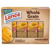 Lance Whole Grain Cheddar Cheese Crackers