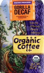 Organic Coffee Company Fair Trade Gorilla Decaf Coffee