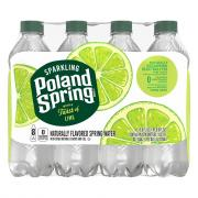 Poland Spring Sparkling Zesty Lime Water
