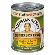 Newman's Own Organics Chicken & Rice Can Dog Food