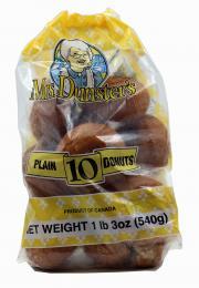 Mrs. Dunster's Plain Donuts