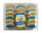 Kimberly's Bakery Spring Yellow & Blue Frosted Sugar Cookies