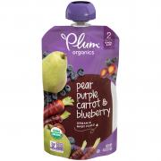 Plum Organics Blueberry, Pear & Purple Carrot Baby Food