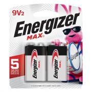 Energizer 9-Volt Batteries 522BP-2.M2 Max